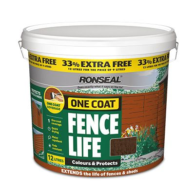 Ronseal one coat fence life 12 litre Was €17 was €15 Now €13