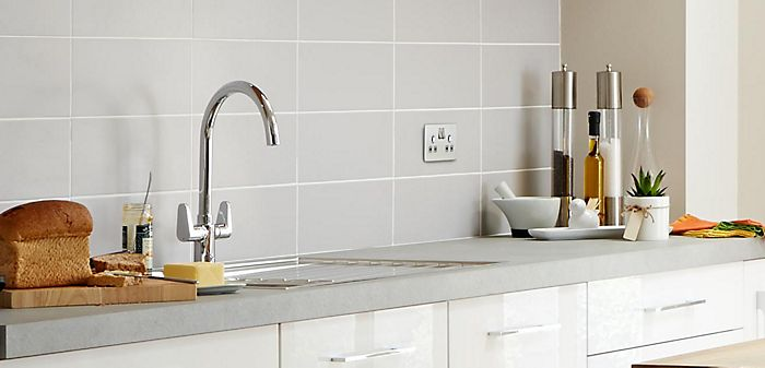 """A monobloc kitchen tap in a kitchen"""