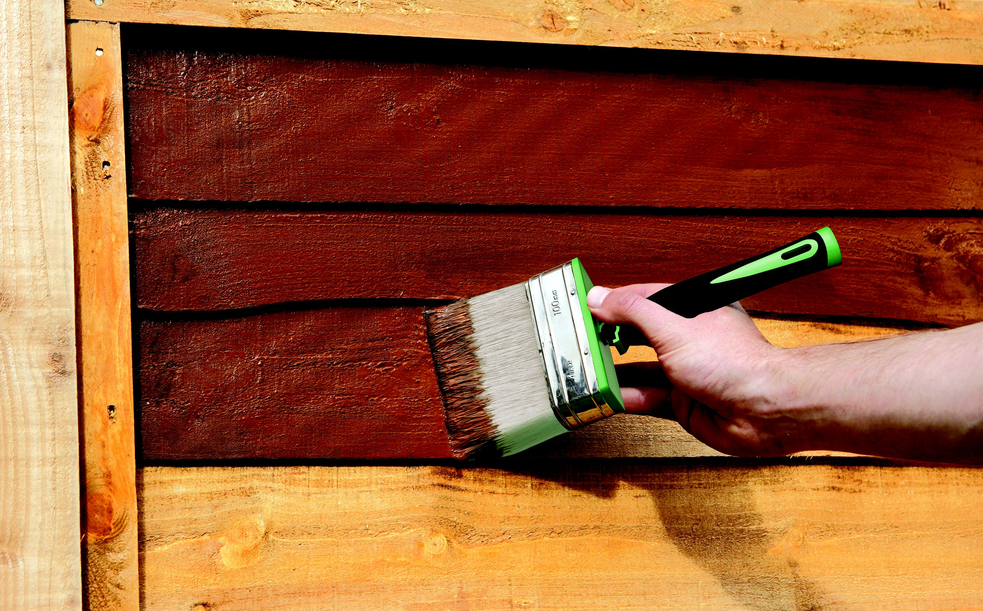 How To Paint A Wooden Shed Or Fence Help Amp Ideas Diy