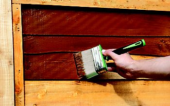 How To Paint A Wooden Shed Or Fence Ideas Amp Advice Diy