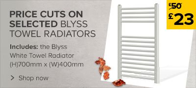 Price Cuts On Selected Blyss Towel Radiators
