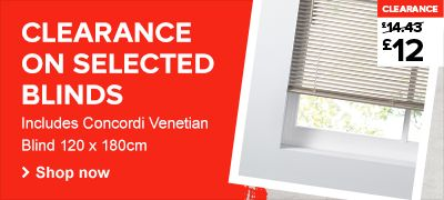Clearance on selected blinds