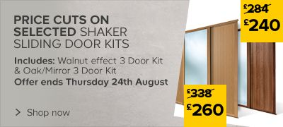 Shaker Sliding wardrobe Door Kits