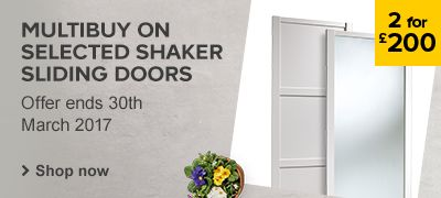 2 for £200 on shaker sliding wardrobe door