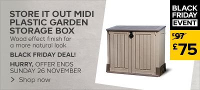 black friday offer on store it out midi garden storage box