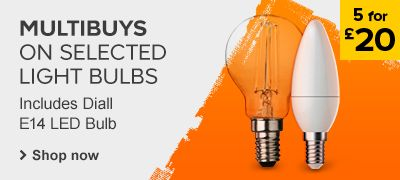 MULTIBUYS On selected light bulbs