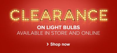 Clearance on light bulbs