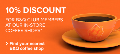 10% discount for B&Q Club members at our in-store coffee shops
