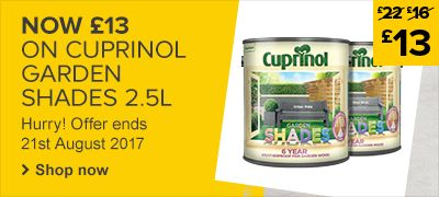 Now £13 on Cuprinol Garden Shades 2.5L