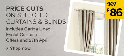Curtains & Blinds Price Cuts