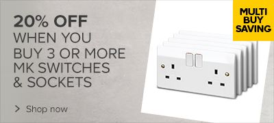 20% off MK Switches & Sockets