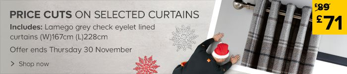 Price cuts on selected curtains