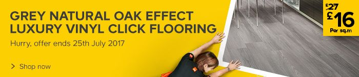 Now £35.14 per pack on Colours Grey Luxury Vinyl Click flooring