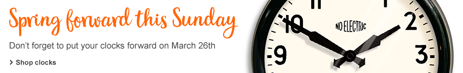 Don't forget the clocks go forward this Sunday 26th