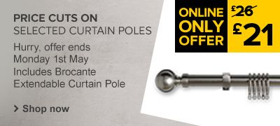 Price cuts on selected curtain poles