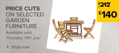 Price cuts on selected garden furniture