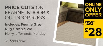 Price cuts on Fearne rugs