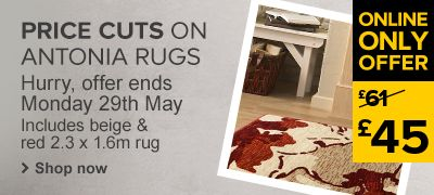 Price cuts on Antonia rugs
