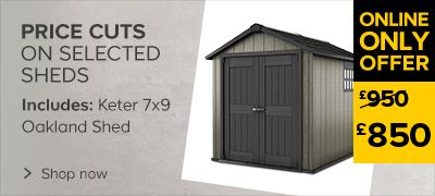 price cuts on selected wooden sheds