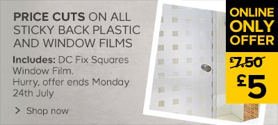 Price cuts on all sticky back plastic and window film