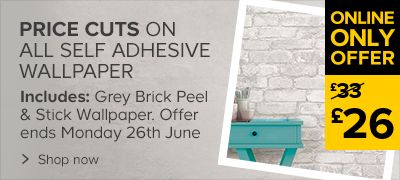 Price cuts on self adhesive wallpaper
