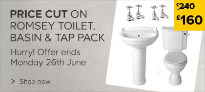 Romsey Toilet & Basin Pack Price Cut