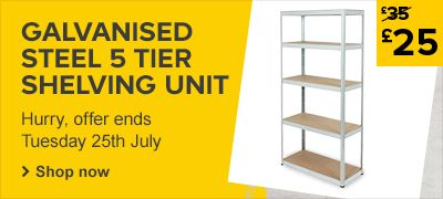 Galvanised Steel 5 Tier Shelving Unit