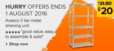 Avasco Shelving Unit price cut