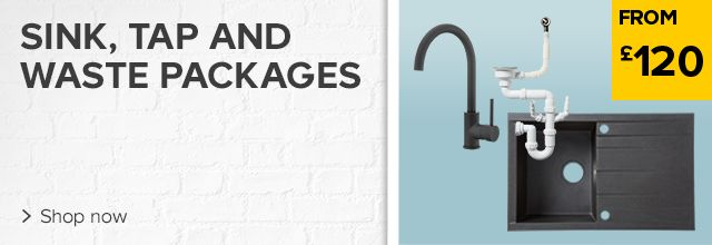 Kitchen Sink, Tap & Waste Packages