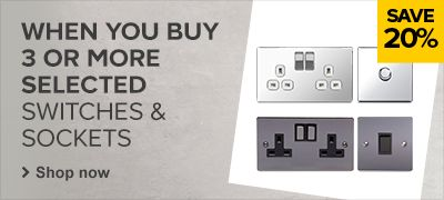 20% off Selected Switches & Sockets