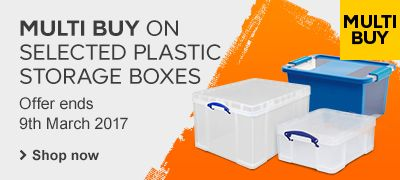 Multi-buy on plastic storage boxes
