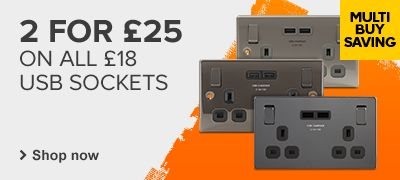 2 for £25 on £18 USB Sockets