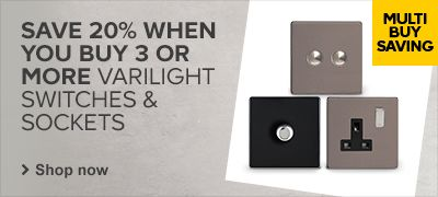 20% off Varilight Switches & Sockets