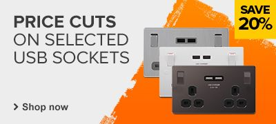 20% off Selected USB Sockets