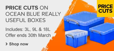 Price cuts on Blue Really Useful boxes