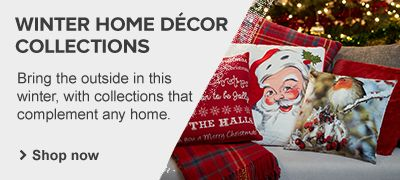 Our winter home decor collection