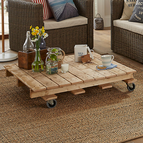 Create a pallet coffee table
