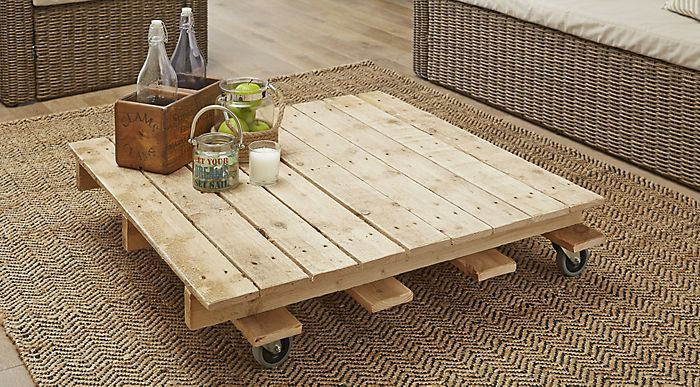 how to create a coffee table out of a pallet | help & ideas | diy