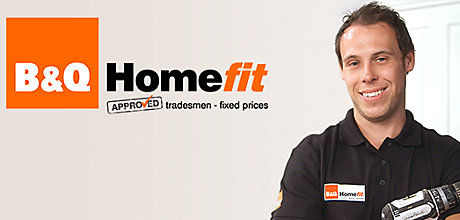 Homefit logo and man