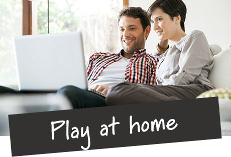 Image of couple playing with spaces at home