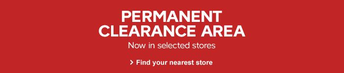 Permanent clearance areas, now in selected stores