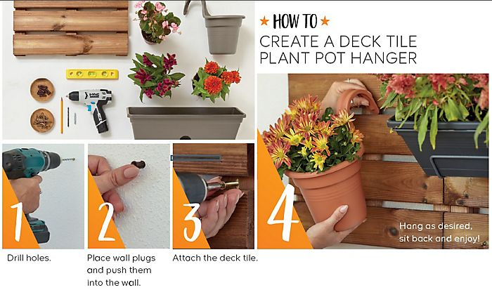 """How to make a decking tile planter"""