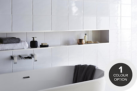 Holborn Ripple White Tile