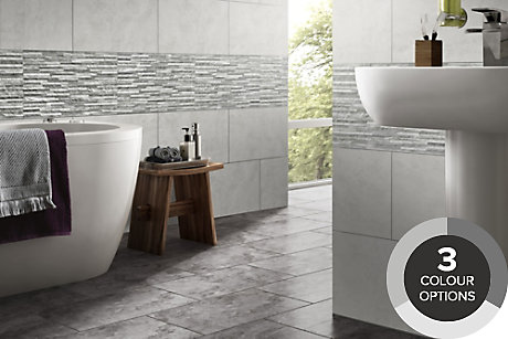 Tiling Ranges Tiles - Grey bathroom tiles bq