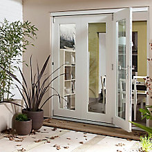 White Folding Sliding Patio Door