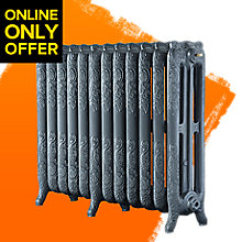 Image of Arroll Montmartre 3 Column Radiator, Cast Grey (W)994mm (H)760mm