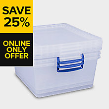 Really Useful 33.5L Nestable Storage Boxes