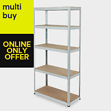 STEEL 5 TIER SHELVING UNIT