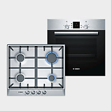 Bosch Stainless Steel Oven & Gas Hob Bundle