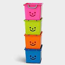 Children's Smiley Storage Boxes